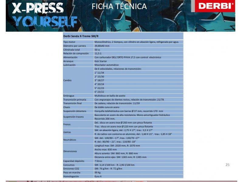 Derbi Senda X-treme 50 SM Monocilíndro 2T 4V EURO 4 SUPERMOTARD