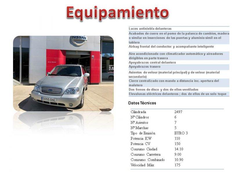 Kia Carnival 2.5 V6 EX