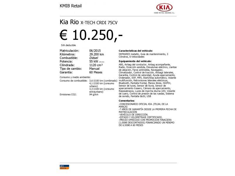 Kia Rio 1.1 CRDi WGT 75CV Eco-Dynamics x-Tech