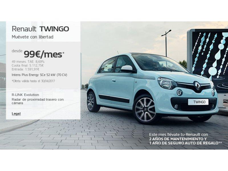 Renault Twingo Energy SCe 52kW (70CV) Intens. OFERTA MARICULACION JULIO.
